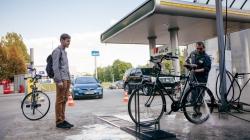 На «ОККО» открылась первая мойка для велосипедов