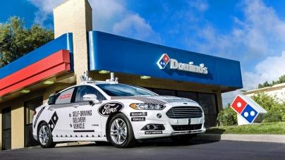 Ford и Domino's Pizza протестируют доставку пиццы на беспилотных машинах