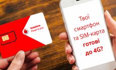 Vodafone запустив сервіс перевірки готовності телефонів і SIM-карт до 4G