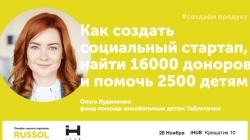 Как создать социальный стартап, найти 16000 доноров?