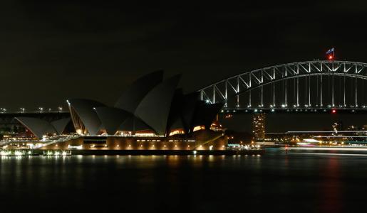 Сіднейська опера після вимкнення