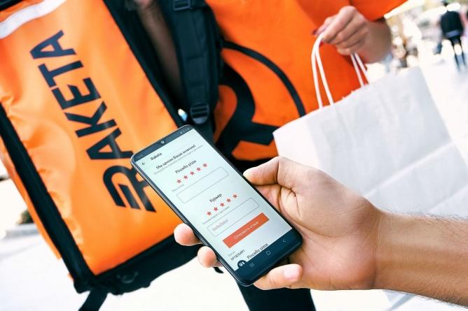 Raketa стала одним з найбільш завантажуваних додатків з доставки їжі в Європі